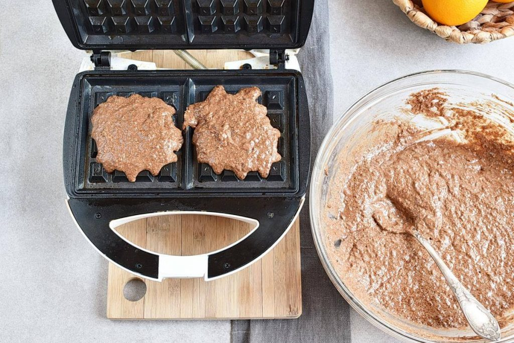 Vegan Chocolate Orange Waffles recipe - step 4