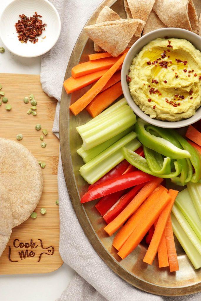 Vegan Green Split Pea Hummus