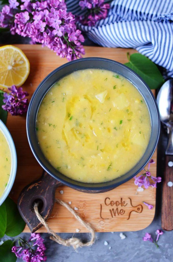 Vegan Split Pea Soup with Potatoes