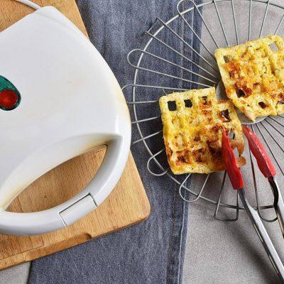 2-Cheese Keto Chaffle recipe - step 4