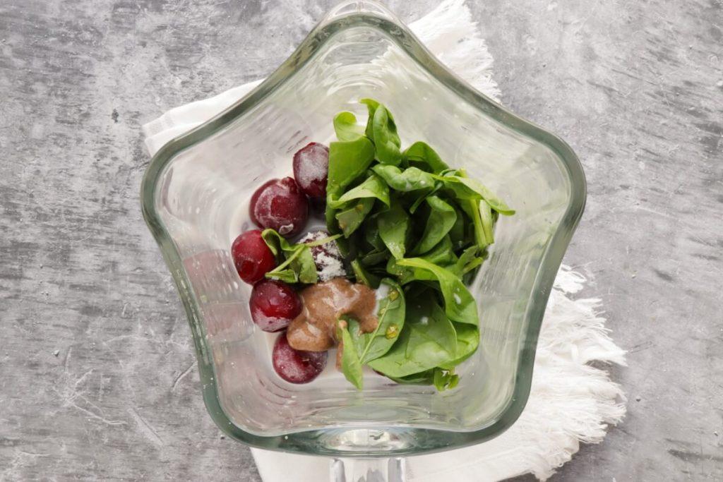 Almond Cherry Spinach Smoothie recipe - step 1