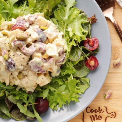 Cherry Greek Yogurt Curry Chicken Salad Recipe-Curried Chicken Salad with Greek Yogurt-Summer Chicken Salad