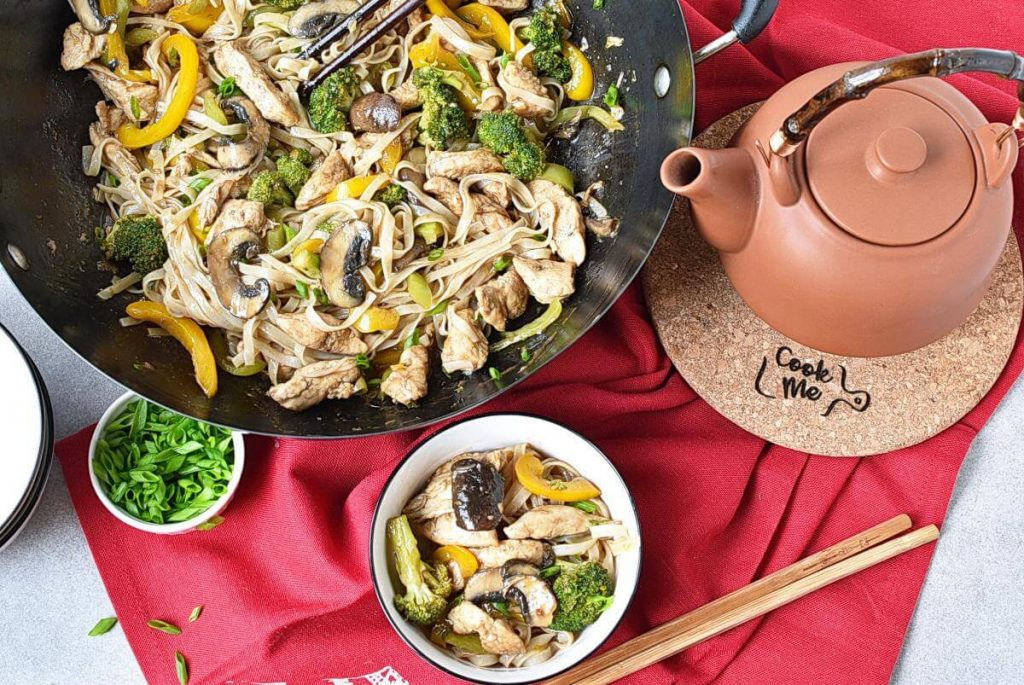 How to serve Chicken Stir-Fry with Rice Noodles