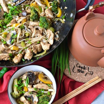 Chicken Stir-Fry with Rice Noodles Recipes– Homemade Chicken Stir-Fry with Rice Noodles–Easy Chicken Stir-Fry with Rice Noodles