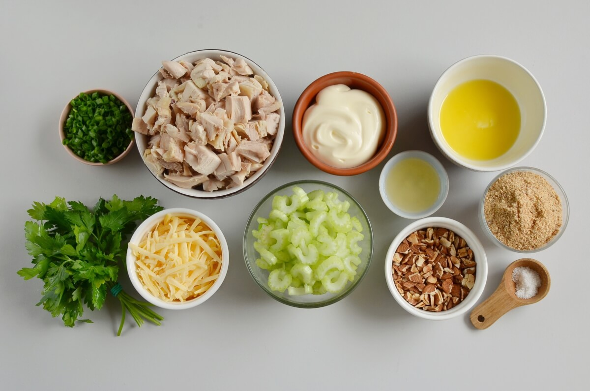 Ingridiens for Classic Hot Chicken Salad