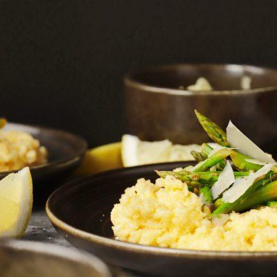 Creamy Polenta with Asparagus Recipe-Polenta and Asparagus-Asparagus Recipes