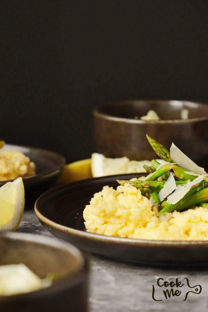 Creamy Polenta with Asparagus