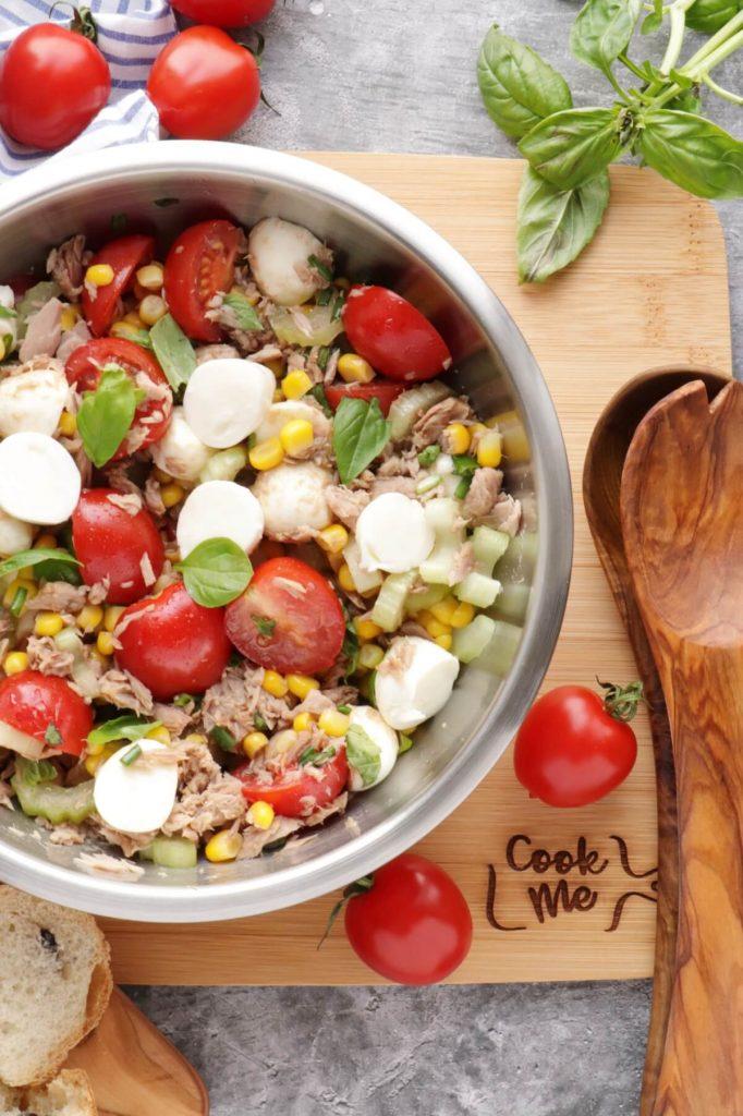 Easy Italian Tuna Corn Salad