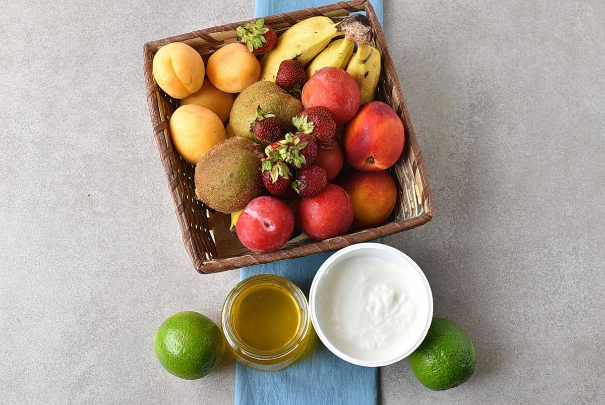Ingridiens for Fresh Key Lime Greek Yogurt Dip