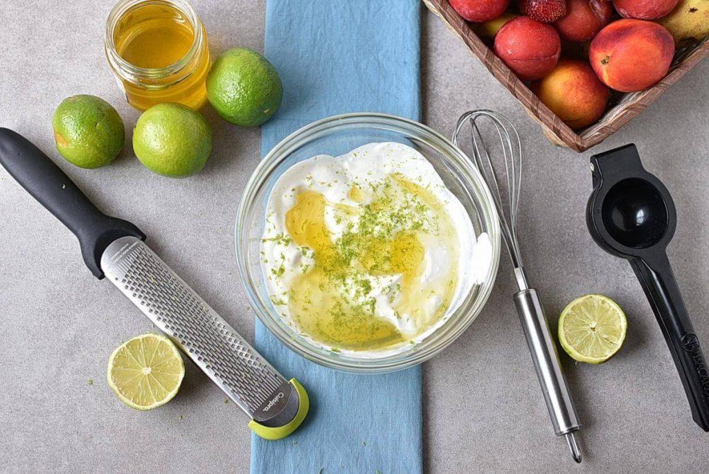 Fresh Key Lime Greek Yogurt Dip recipe - step 1