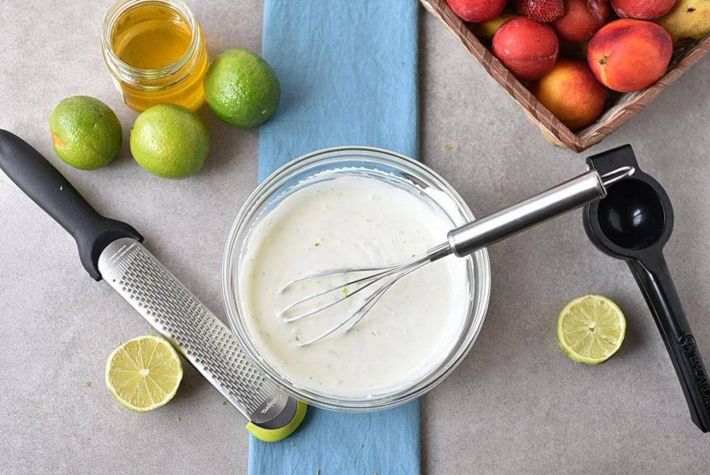 Fresh Key Lime Greek Yogurt Dip recipe - step 2