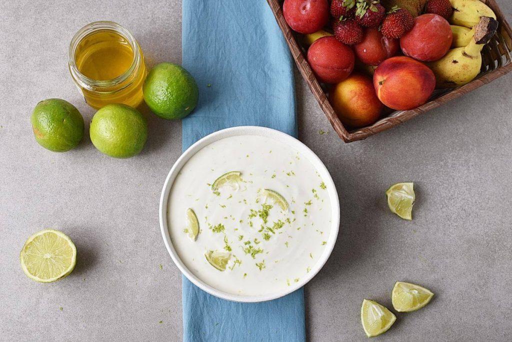 Fresh Key Lime Greek Yogurt Dip recipe - step 3