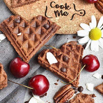 Gluten Free Chocolate Buckwheat Waffles Recipes– Homemade Gluten Free Chocolate Buckwheat Waffles–Easy C Gluten Free Chocolate Buckwheat Waffles