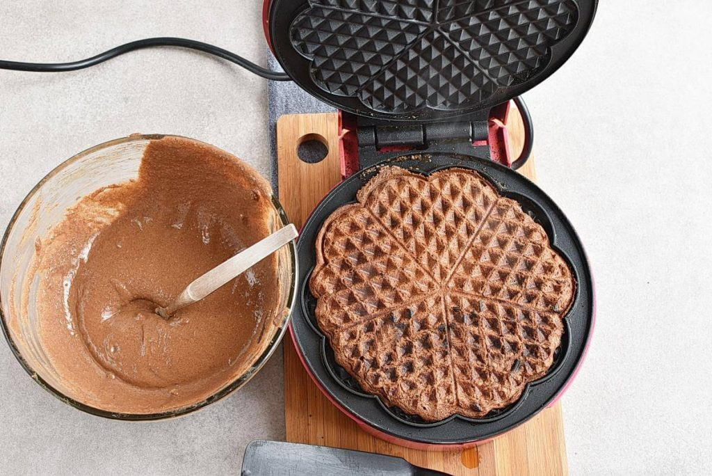 Gluten Free Chocolate Buckwheat Waffles recipe - step 5