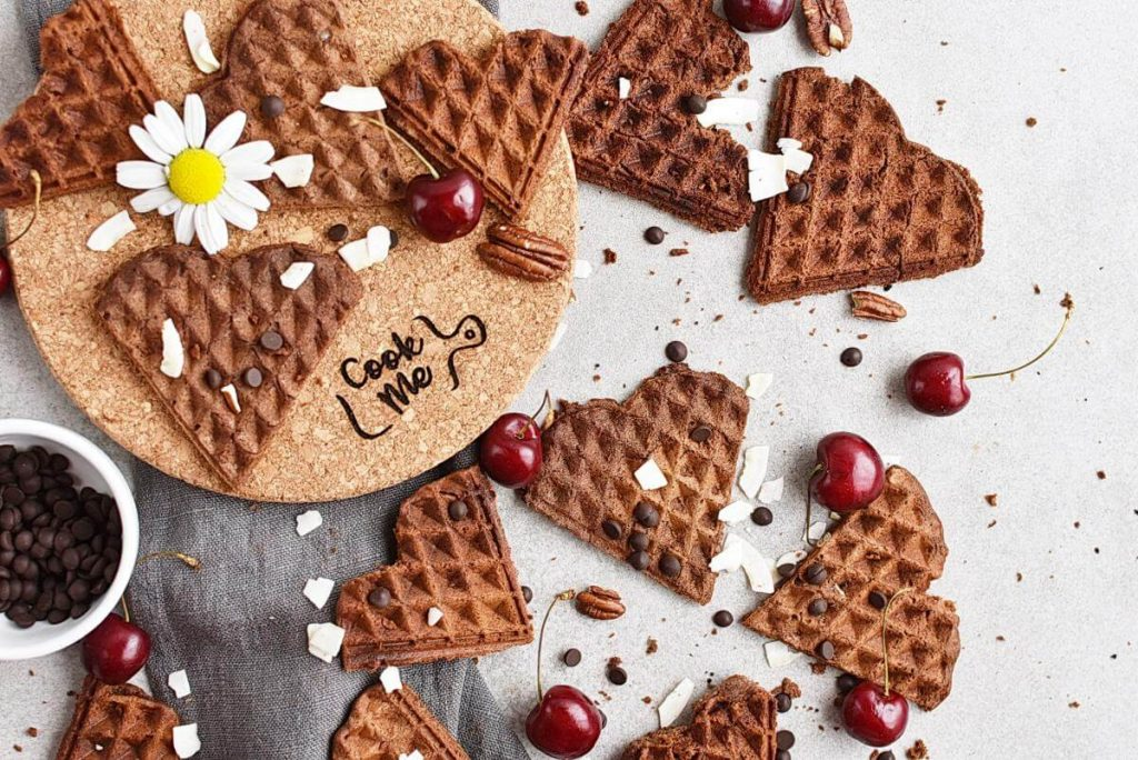 How to serve Gluten Free Chocolate Buckwheat Waffles