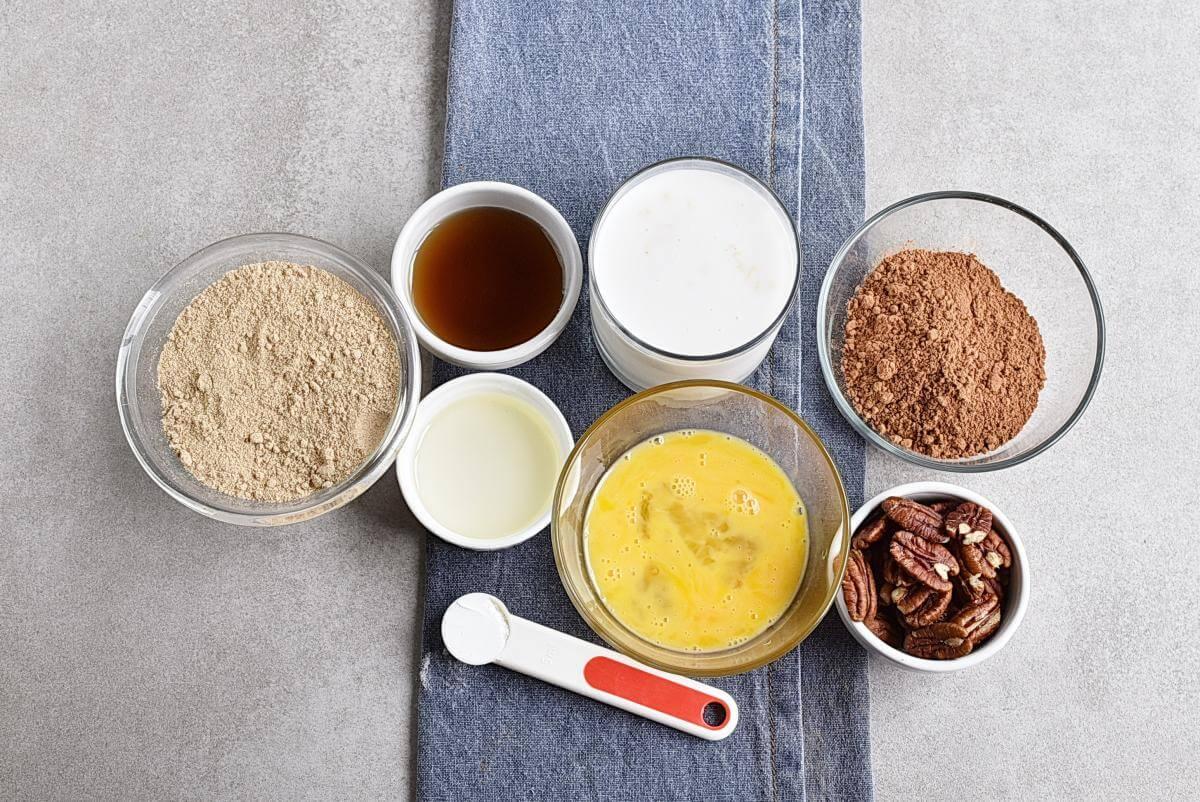 Ingridiens for Gluten Free Chocolate Buckwheat Waffles