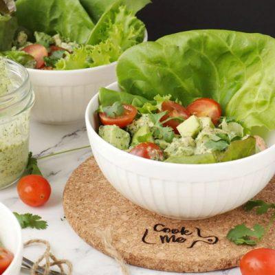 Green-Goddess-Chicken-Salad-Recipe-Chicken-Salad-Green-Goddess-Dressing-Delicious-Chicken salad with green goddess dressing