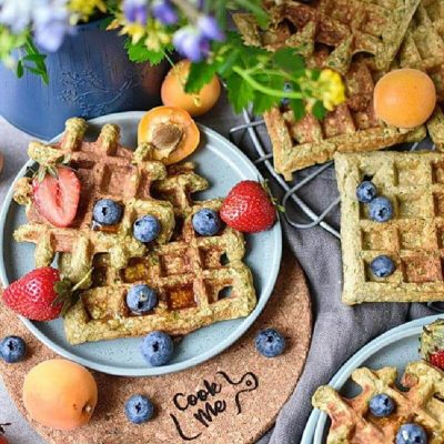 Green-Oatmeal-Spinach-Waffles-Recipes–-Homemade-Green-Oatmeal-Spinach-Waffles–Easy-Green-Oatmeal-Spinach-Waffles