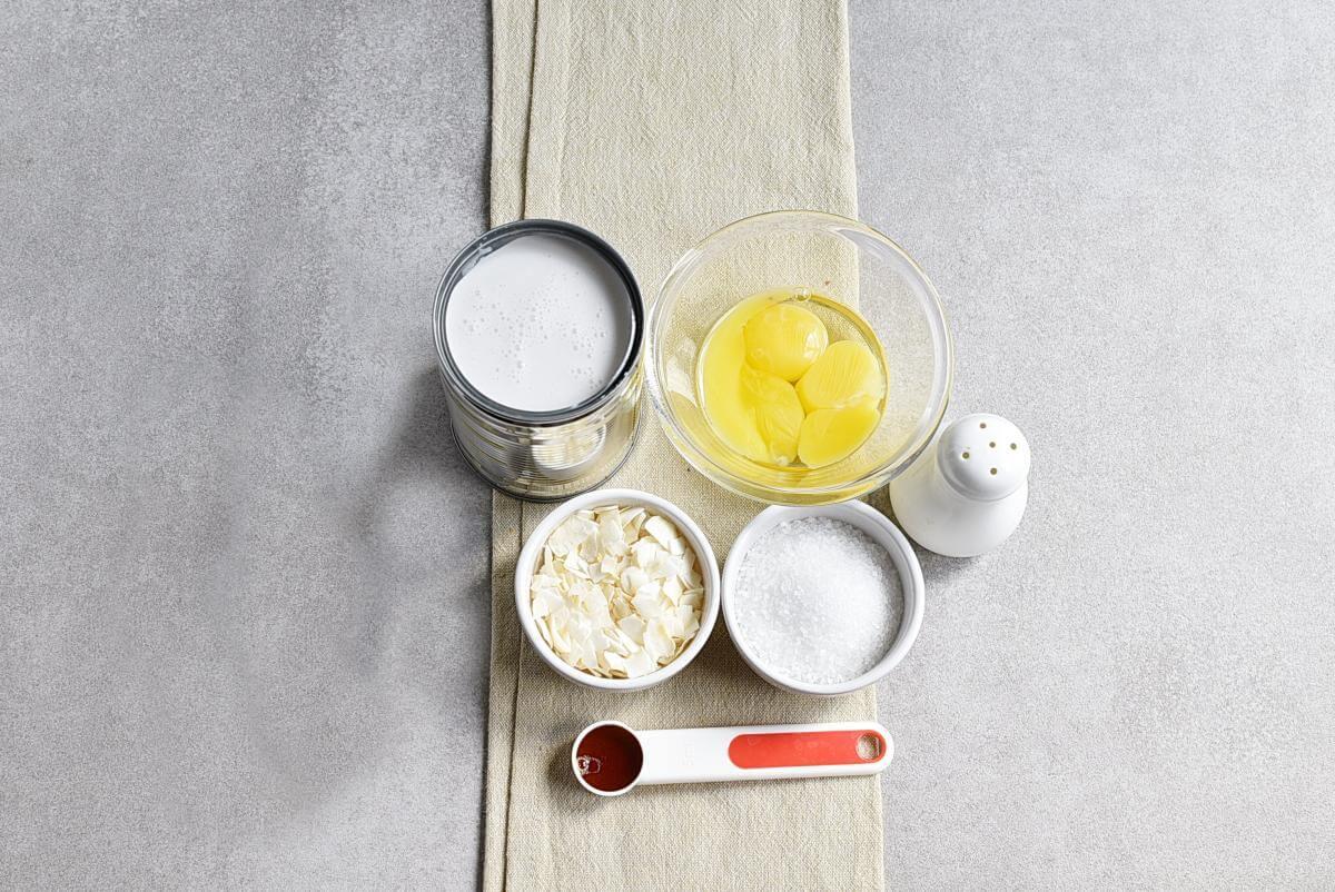 Ingridiens for Keto Coconut Custard