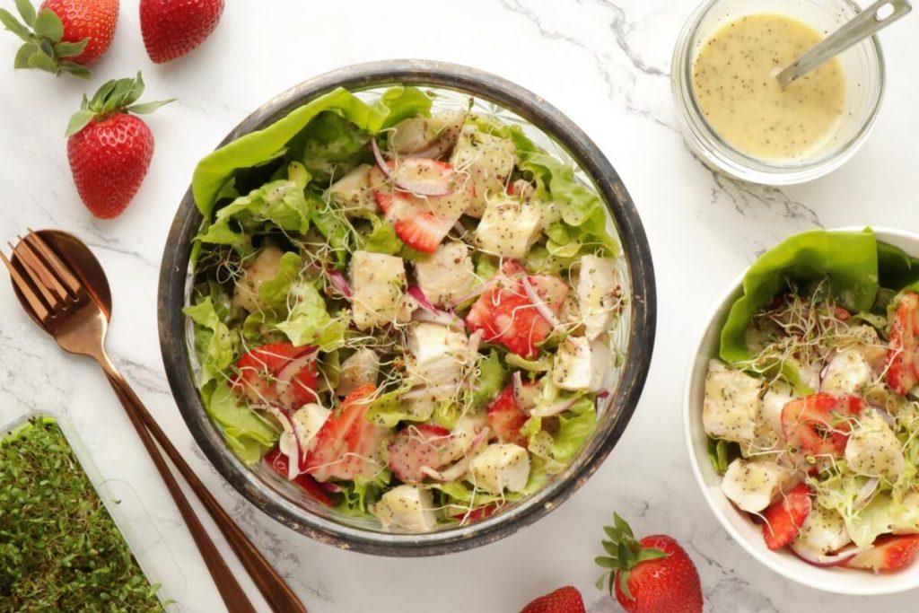 How to serve Keto Strawberry Chicken Poppyseed Salad