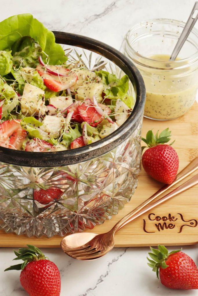 Keto Strawberry Chicken Poppyseed Salad