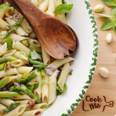 Lemon Asparagus Pasta Salad Recipe-Asparagus Pasta Salad-Summer Pasta Salad
