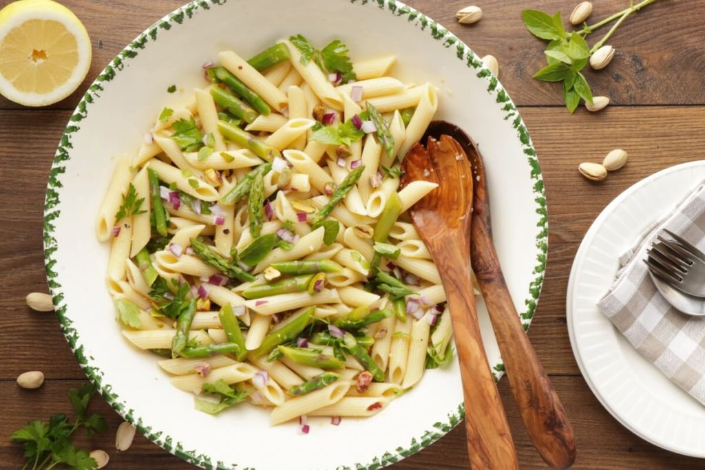 How to serve Lemon Asparagus Pasta Salad