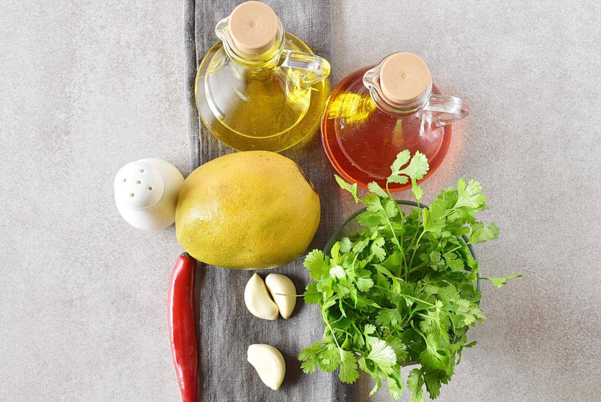 Ingridiens for Creamy Mango Cilantro Salad Dressing