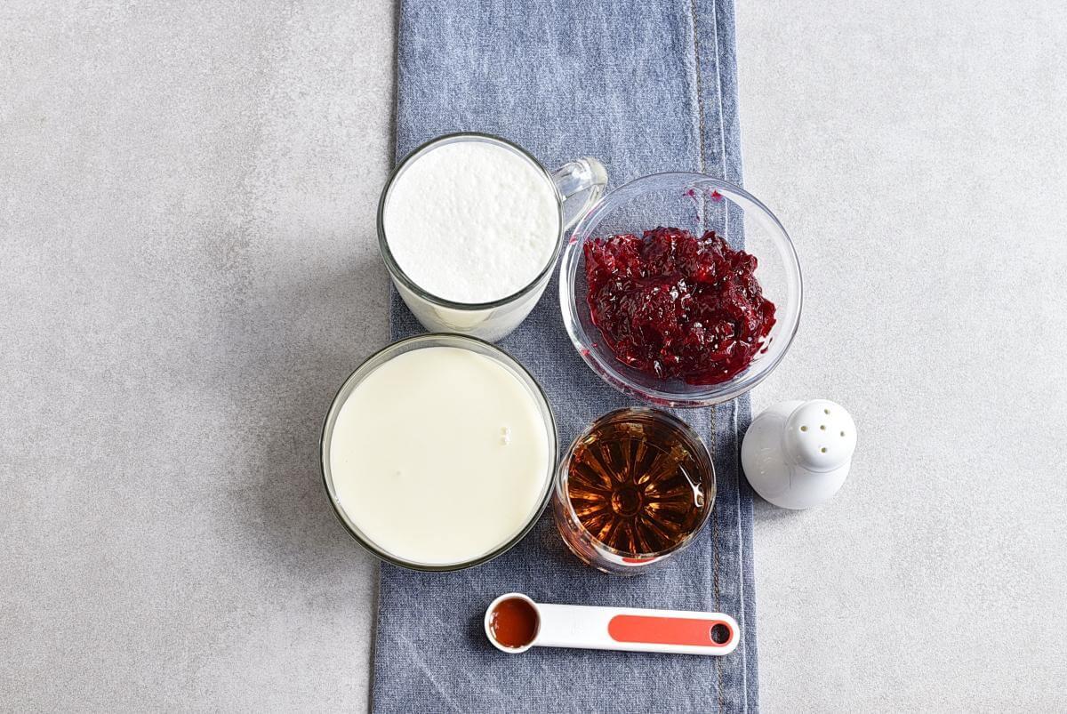 Ingridiens for No-Churn Cherry Chunk Amaretto Ice Cream