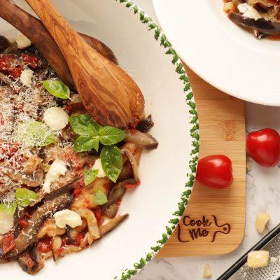 One-Pot Italian Eggplant Noodle Parmesan Recipe-Gluten Free Eggplant Noodle Parmesan-Eggplant Noodles