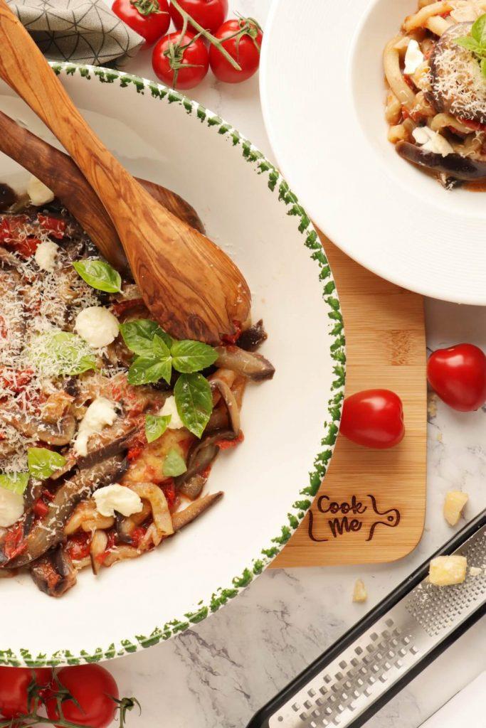 One-Pot Italian Eggplant Noodle Parmesan