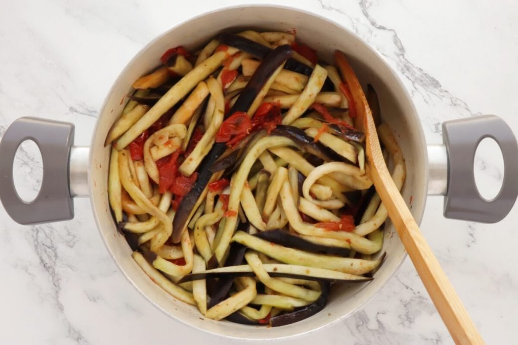 One-Pot Italian Eggplant Noodle Parmesan recipe - step 5