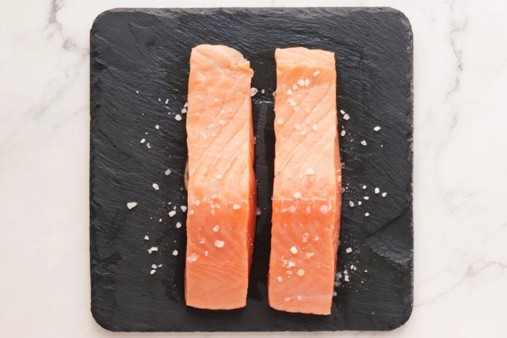 Poached Salmon with Cucumber Yogurt Salad recipe - step 2