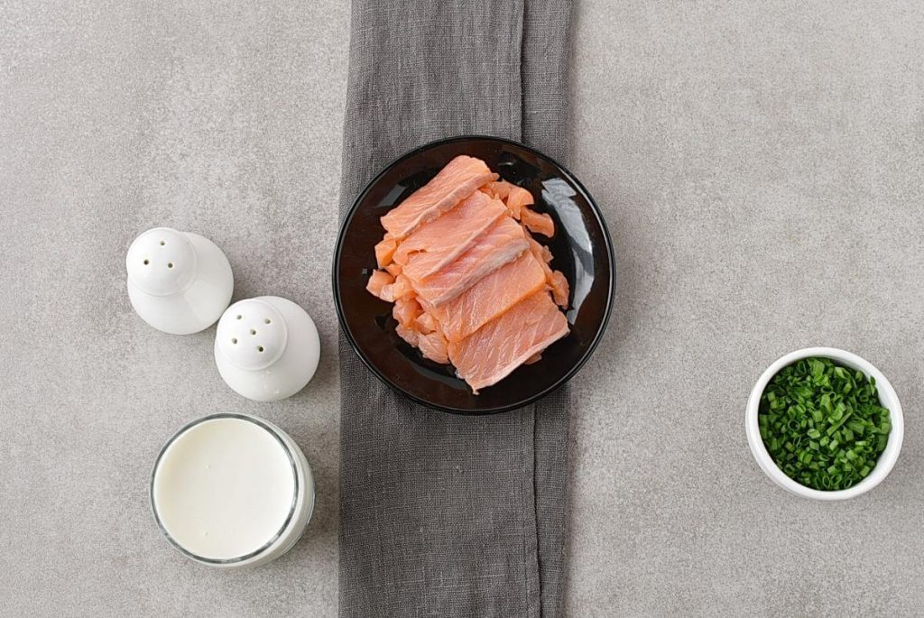 Scrambled Eggs with Smoked Salmon recipe - step 1