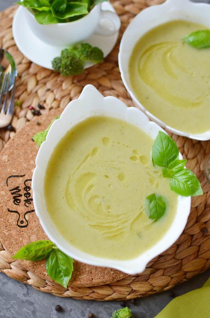 Vegan Broccoli Basil Potato Soup