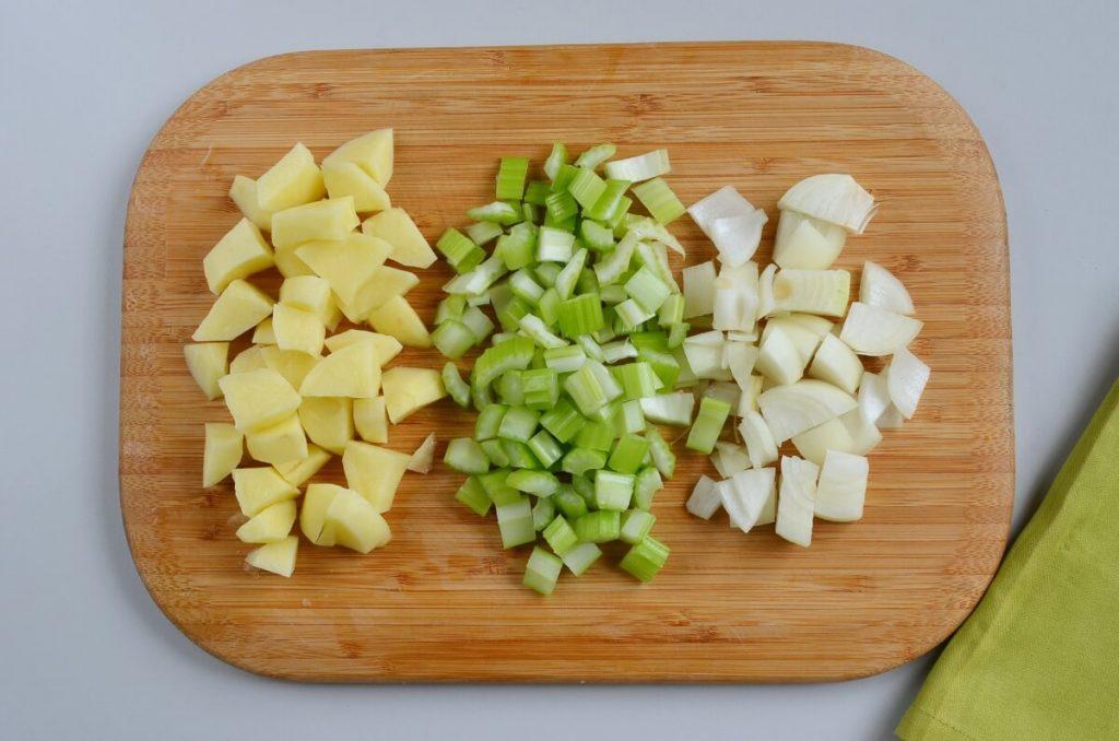 Vegan Broccoli Basil Potato Soup recipe - step 1
