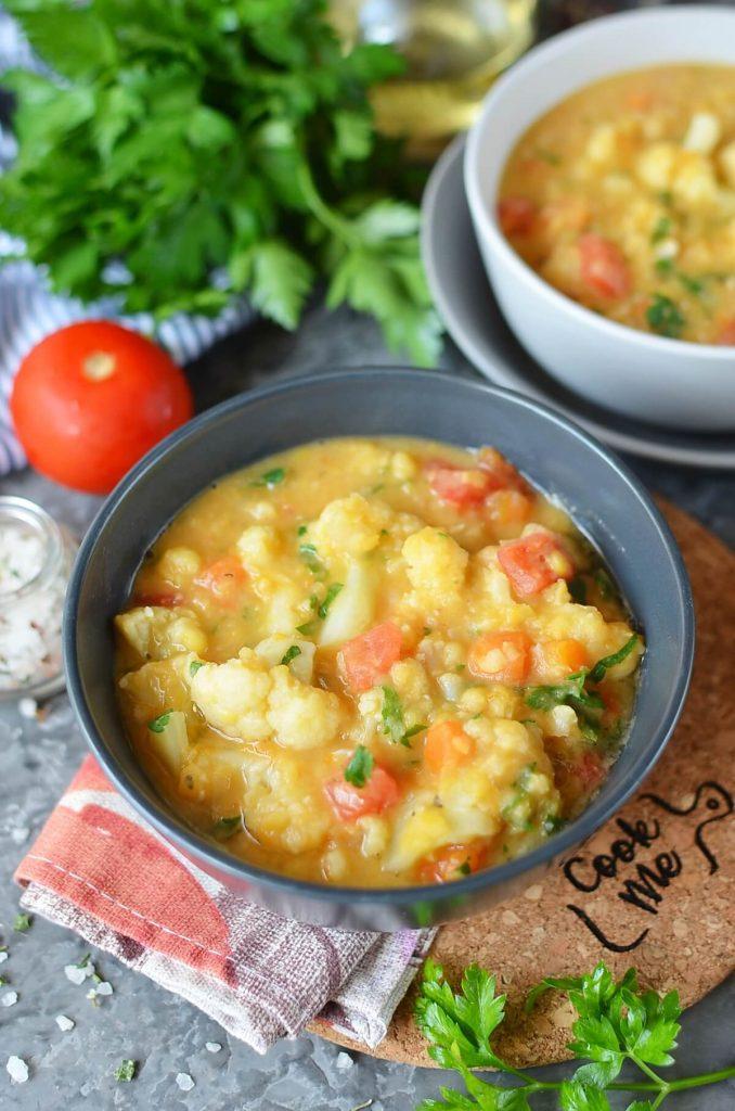 Vegan Italian Split Pea Cauliflower Stew