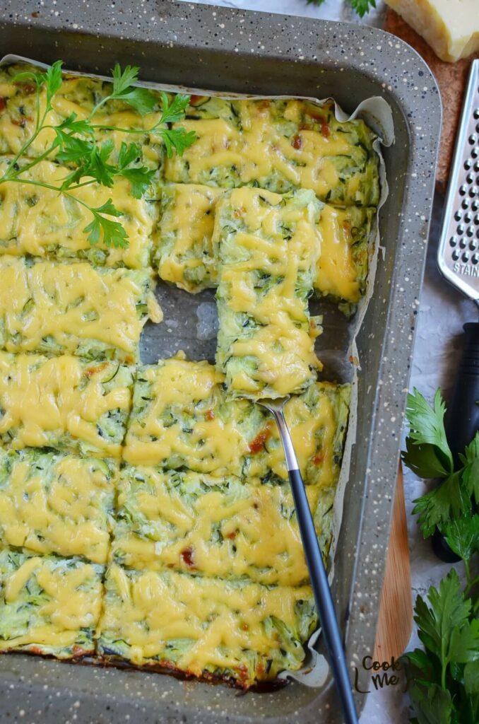 Keto Cheesy Zucchini Breadsticks