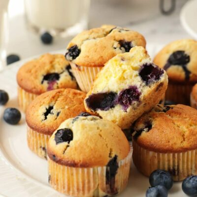 Blueberry Cream Cheese Muffins Recipe-Breakfast Muffins-Blueberry Muffins