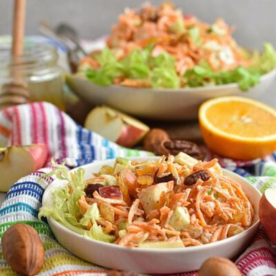 Carrot Apple Salad with Yogurt Dressing Recipes– Homemade Carrot Apple Salad with Yogurt Dressing– Easy Carrot Apple Salad with Yogurt Dressing