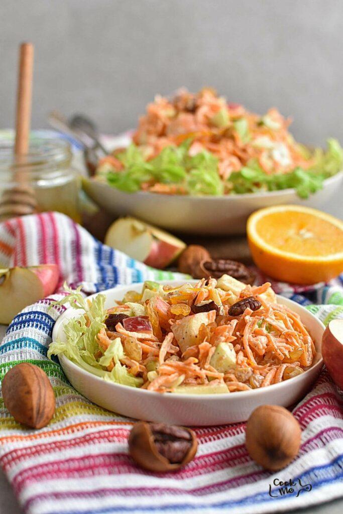 Carrot Apple Salad with Yogurt Dressing