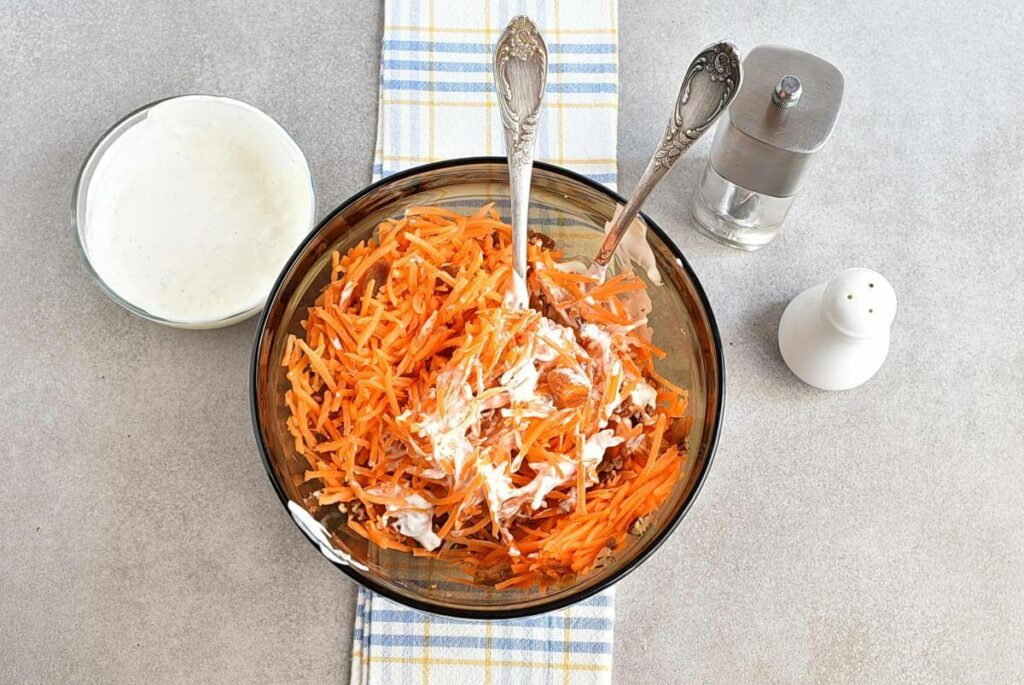 Carrot Salad with Apricots and Pecans recipe - step 5