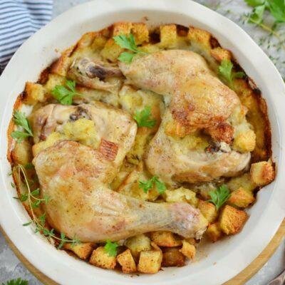 Chicken & Stuffing Recipe-How To Make Chicken & Stuffing-Delicious Chicken & Stuffing
