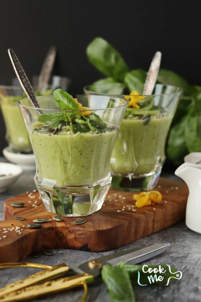 Chilled Zucchini Basil Soup