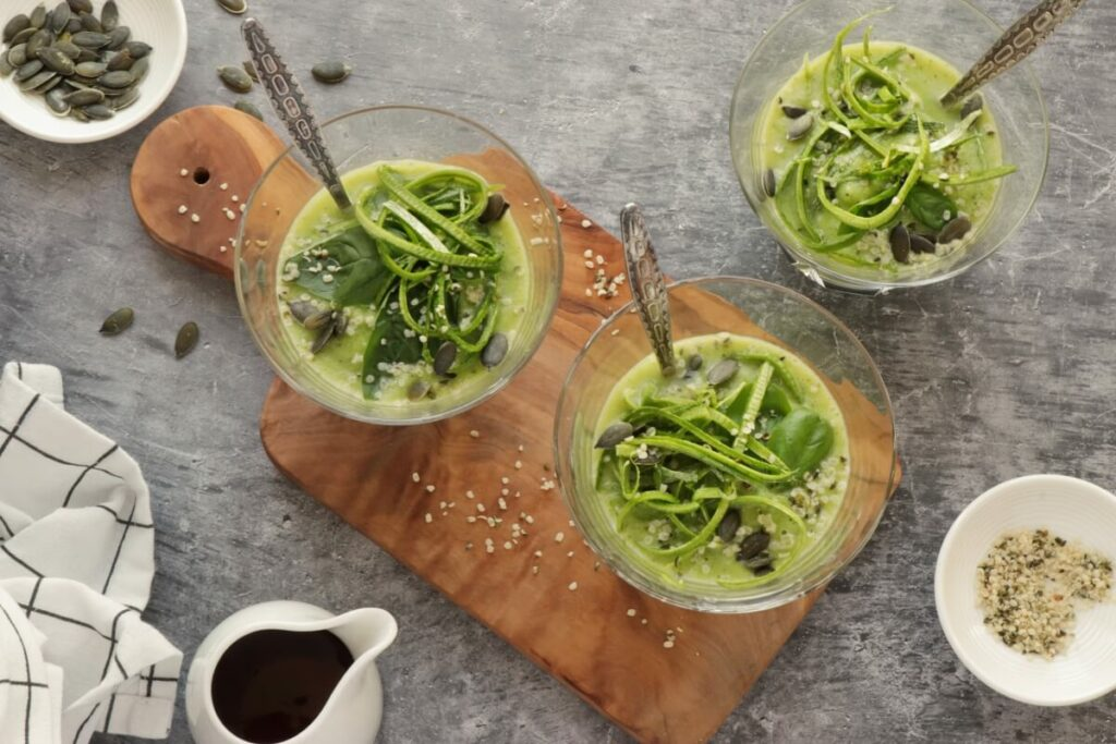 How to serve Chilled Zucchini Basil Soup