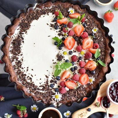 Chocolate Vanilla Berry Panna Cotta Tart Recipes– Homemade Chocolate Vanilla Berry Panna Cotta Tart – Easy Chocolate Vanilla Berry Panna Cotta Tart