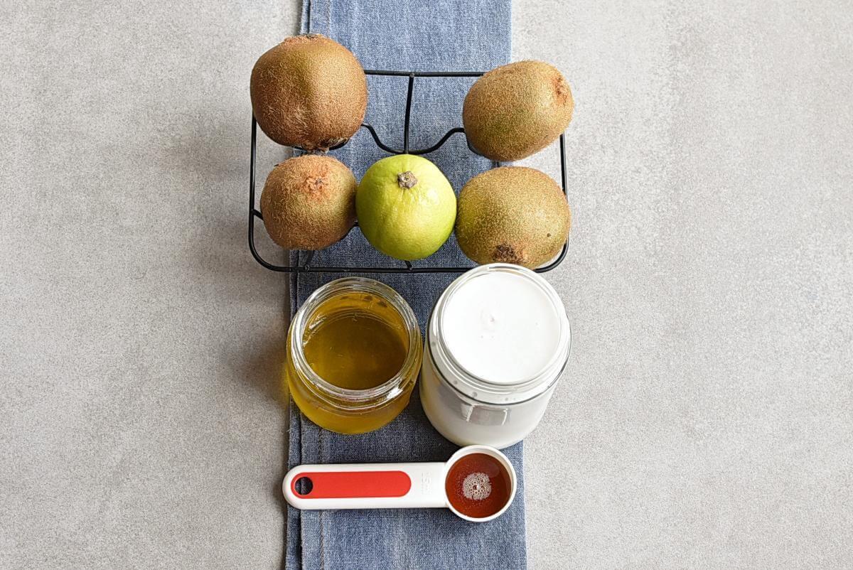 Ingridiens for Creamy Kiwi Key Lime Popsicles