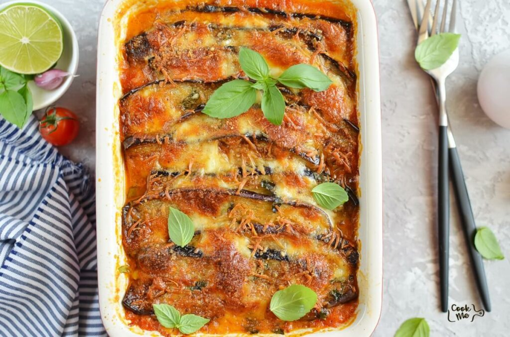 How to serve Eggplant Parmesan with Crisp Crumb Topping