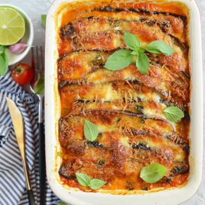 Eggplant Parmesan with Crisp Crumb Topping Recipe-How To Make Eggplant Parmesan with Crisp Crumb Topping-Delicious Eggplant Parmesan with Crisp Crumb Topping