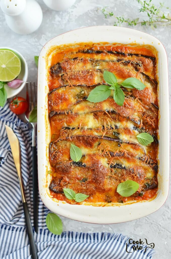 Eggplant Parmesan with Crisp Crumb Topping